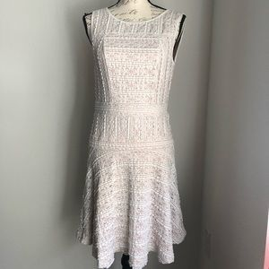 VINCE CAMUTO | Lace White Fit & Flare Dress